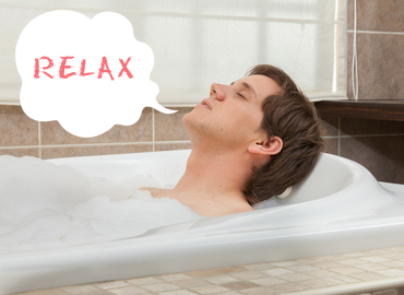 夜はお風呂でリラックス